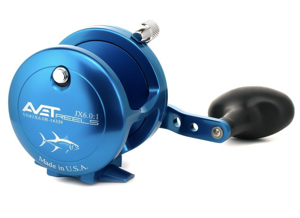 Avet JX 6.0 Single Speed Lever Drag Casting Reel  JX6.0 - blueE - Right Hand  large discount