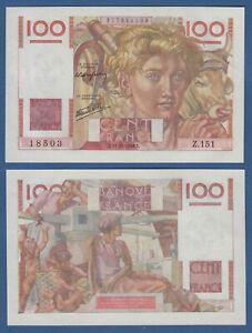 Ambitieux France/france 100 Francs 1946 Au-unc P.128 A-afficher Le Titre D'origine Bon Pour L'éNergie Et La Rate