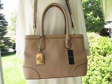 Lauren Ralph Lauren Fairfield City Shopper Stone Leather Satchel/Hand Bag NEW