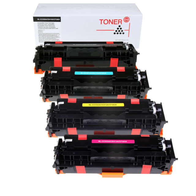 5PK CC530A 531A 532A 533A Toner Cartridge For HP LaserJet CM2320 CP2025