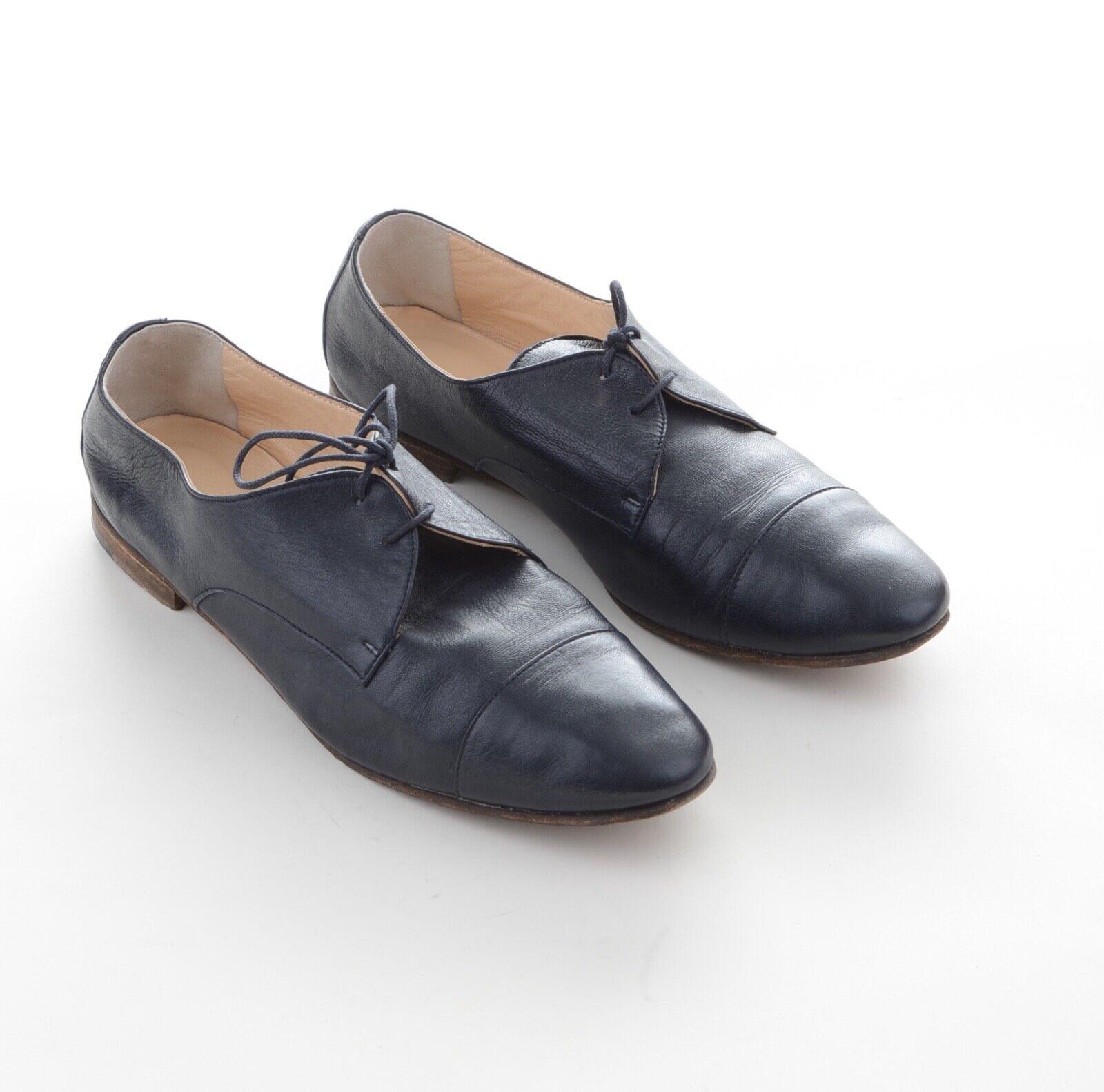 Schoschuhe Designer Damen Halb Schuhe Gr.40 Dunkelblau