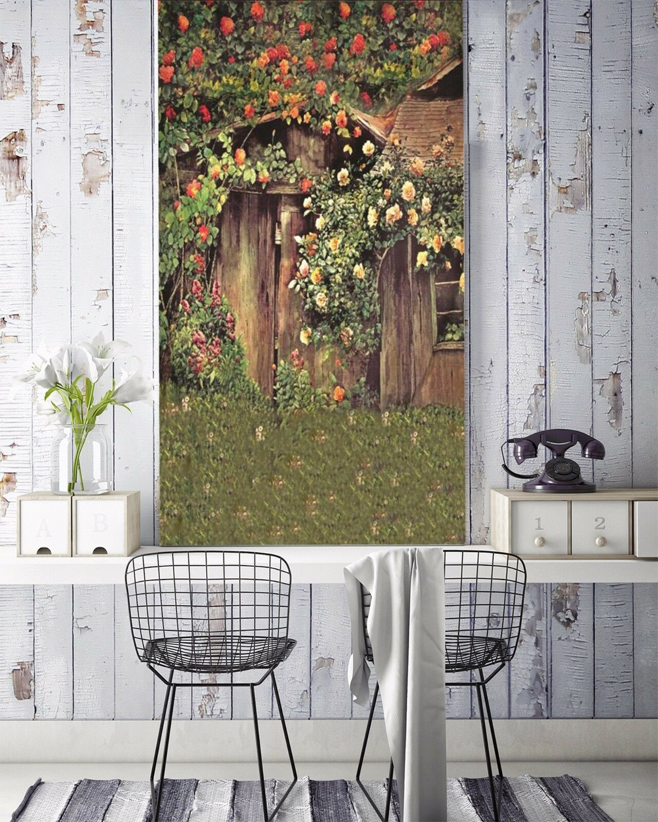 3D Wildflower house 251 Wall Paper Wall Print Decal Wall Indoor Murals Wall US