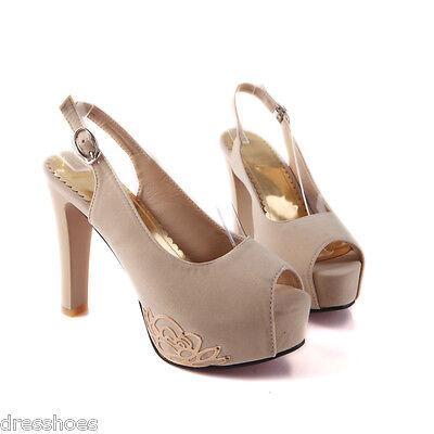 Women's Sexy High Heel Shoes Platform Pumps Slingbacks Sandals Sz AU 2~13.5 D002