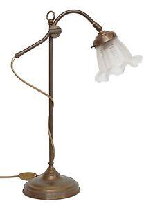 Tres-jolie-classique-franz-Original-Art-Nouveau-Lampe-de-bureau-Banker-LAITON