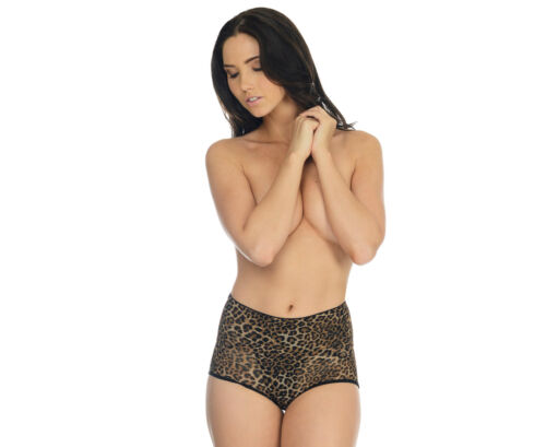LEOPARD Vixen Mid Waisted Brief  10 12 14  NEW FREE FAST POST