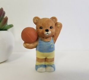Image Is Loading Home Interiors Bear Homco 1408 Basketball Player Teddy