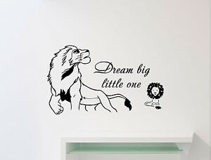 Lovely Image Is Loading Dream Big Little One Disney Quote Lion King