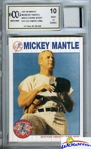 1997-Scoreboard-68-Mickey-Mantle-YANKEES-WORN-JERSEY-Beckett-10-MINT-GGUM