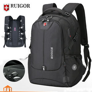 00d8d3dda5b Details about Brand black bag laptop outdoor swiss Rucksack school backpack  travel fashion