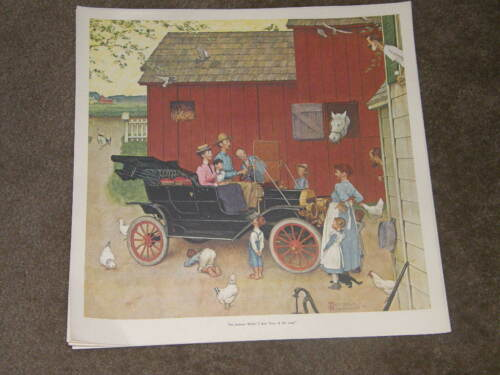 FORD Model T was Boss of the Road Advertising 50th anv NORMAN ROCKWELL PRINT