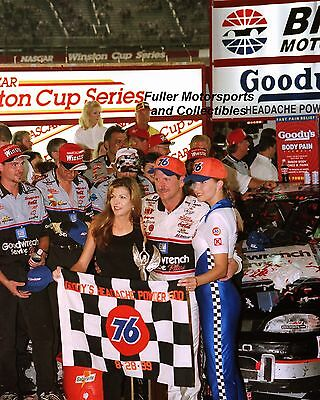 DALE EARNHARDT SR & TERESA BRISTOL VICTORY 1999 8X10 PHOTO NASCAR WINSTON CUP