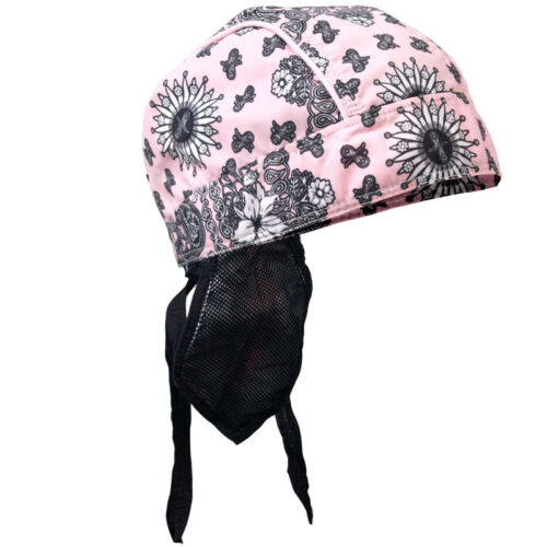 Pink Paisley with sewn-in sweatband BIKER HAT HEADWRAP