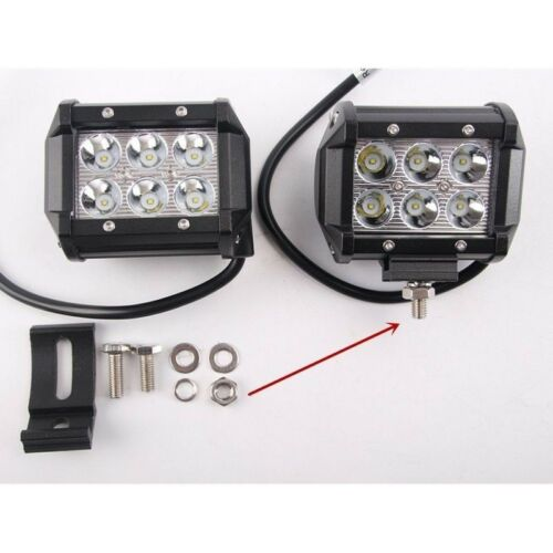 2x 4inch 18W SPOT PODS LED Work Light Bar 4WD Offroad Fogs ATV SUV Driving Boat