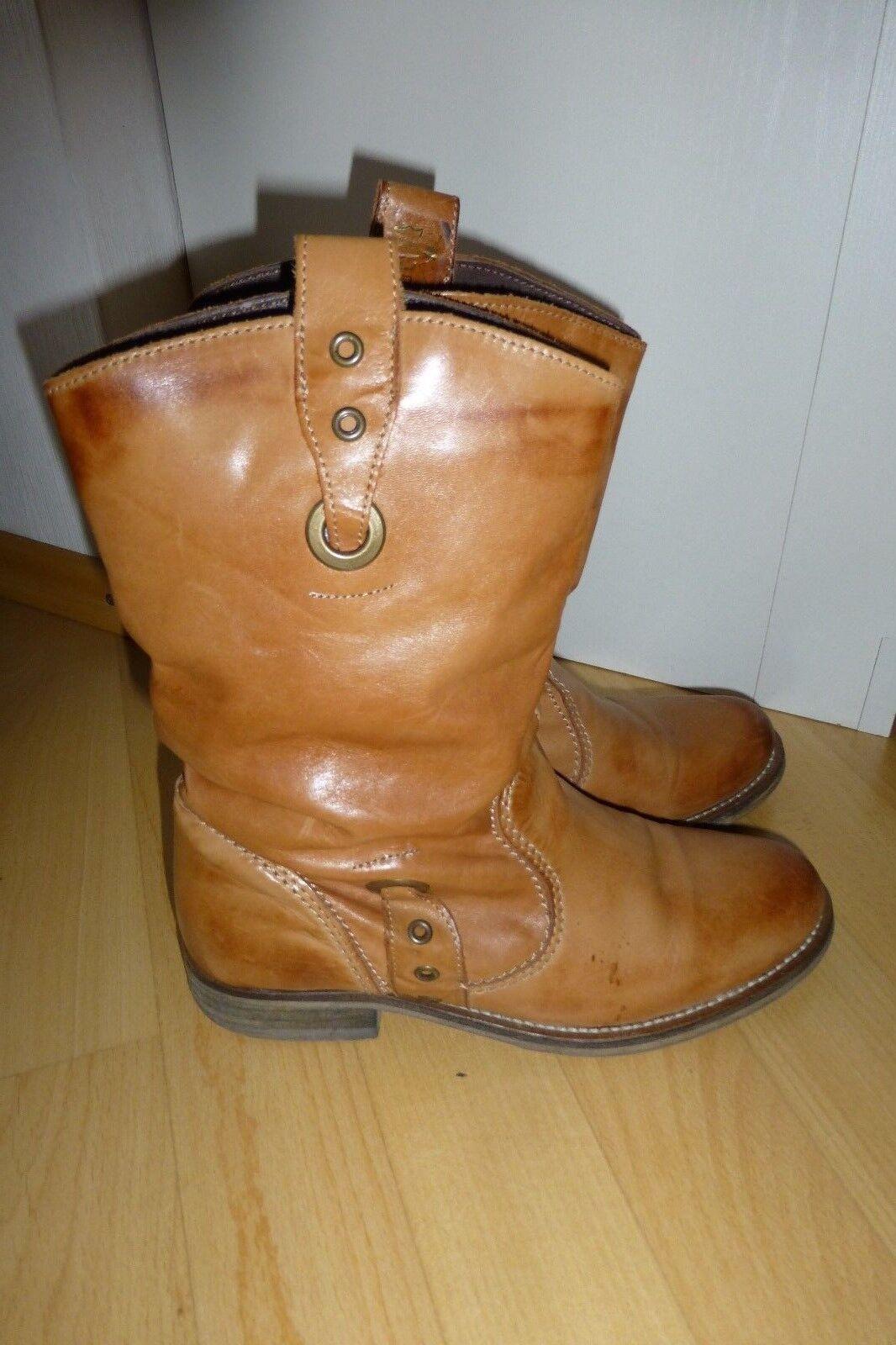 Schuhes Stiefelette Damen braun Gr. 38