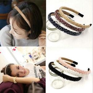 Womens-Girls-Elegant-Crystal-Diamond-Knotted-Headband-Hairband-Toothed-Hair-Hoop