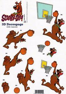 Scooby Doo Decoupage Sheet Basket Ball 5055189504400 Ebay