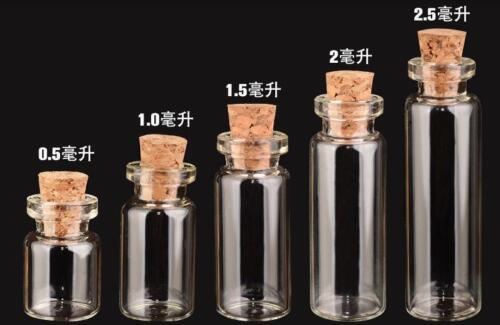 100pcs 2ml 12*35*6mm Empty Glass Bottles with CORKs Jars Small BOTTLE
