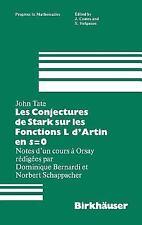 Les Conjectures de Stark sur les Fonctions L d'Artin en s=0: Notes d'un cours a