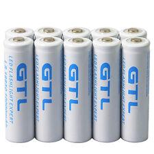 10x 18650 10000mAh 3.7v GTL li-ion White Rechargeable Battery for LED Flashlight