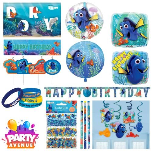 Disney Finding Dory Party Decorations Foil Hanging Swirls Balloons Tableware