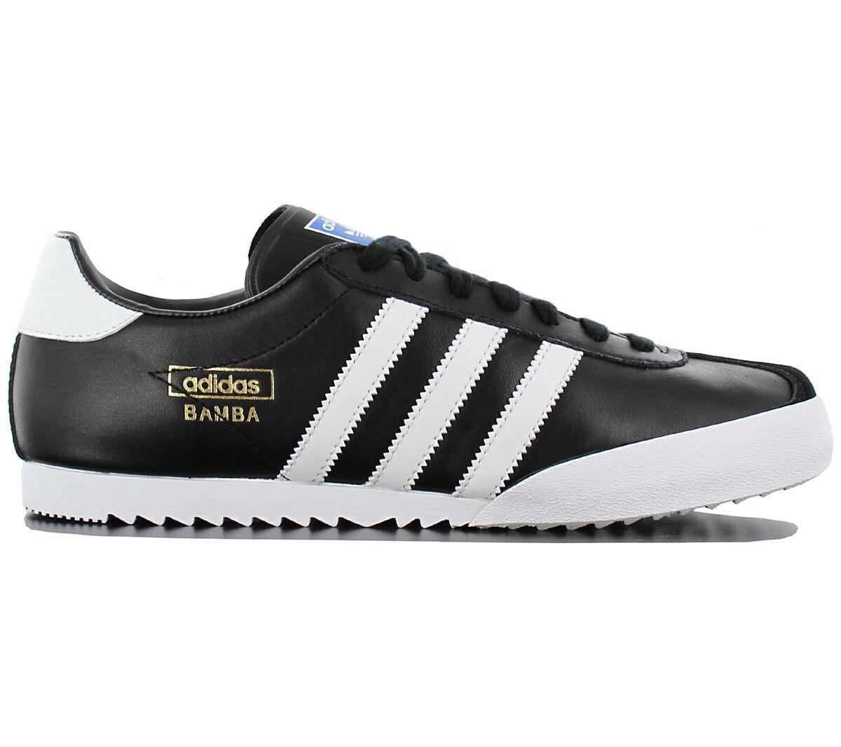 Adidas Originals Bamba Super Herren Turnschuhe Schuhe Leder Schwarz Samba D65456    | Verpackungsvielfalt