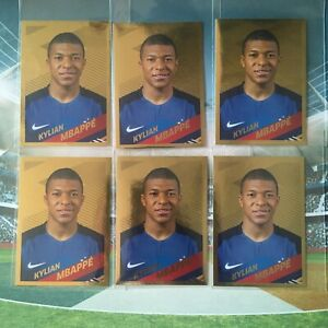6 X PANINI KYLIAN MBAPPE OR GOLD ROOKIE RC CARREFOUR FRANCE WORLD CUP 2018  #54