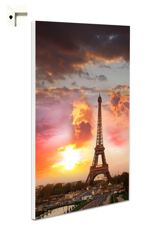 Magnettafel Pinnwand mit Motiv Frankreich Paris Eiffelturm im Sonnenuntergang