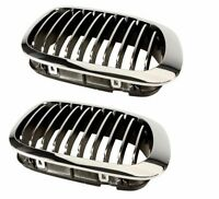 Bmw E46 M3 Pair Set If Front Left + Right Chrome Frame And Grilles Aftermarket on sale