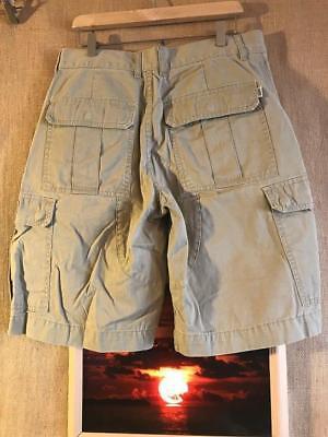 VANS men's beige cargo shorts size 34 x 11 solid flat zip fly cotton back flap s | eBay