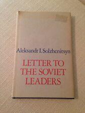 Letter to the Soviet Leaders by Aleksandr Solzhenitsyn - First Edition