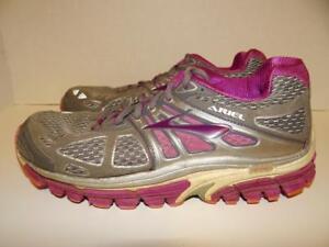 032fec1be5e Women s Brooks Ariel 14 Running Shoes Size 6 Gray Purple Sneakers ...