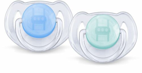 Philips Avent Translucent Soother Twin Pack 6-18m Blue