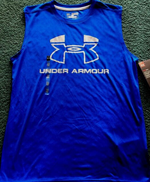 NWT Boys Under Armour XL Turquoise Blue//Dark Blue BASEBALL Shirt YXL