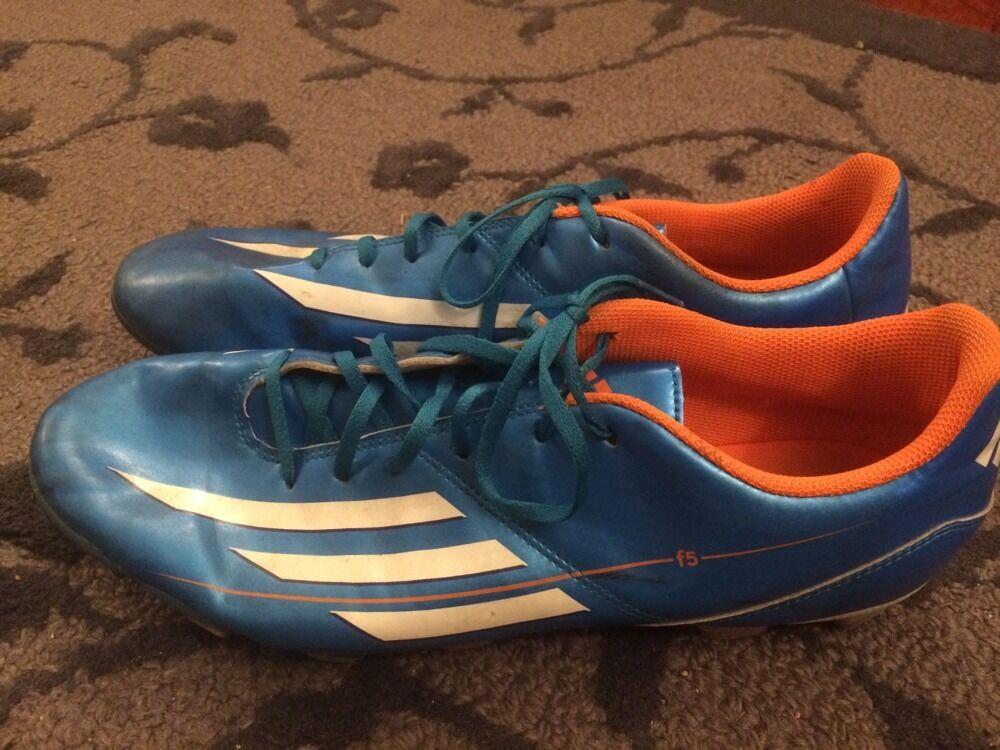 Adidas F5 bluee White orange  FG Soccer Cleats Men's shoes 13