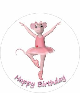 Angelina ballerina 8 inch round iced cake topper add for Angelina ballerina edible cake topper decoration sale