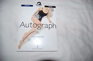 Bare-Cooling-Sheer-Toe-Tights-Expresso-Size-Medium-M-amp-S-Autograph-7-Denier-New