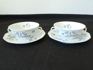 Paire-de-Dejeuner-tasse-et-sous-tasse-en-porcelaine-LIMOGES-BERNARDAUD-Leman