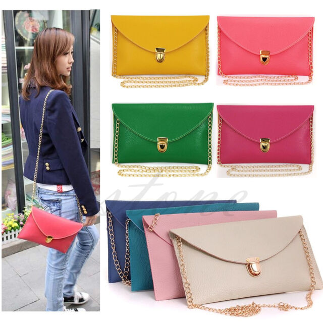 Vogue Women Envelope Clutch Chain Handbag Shoulder Messenger Purse Bag