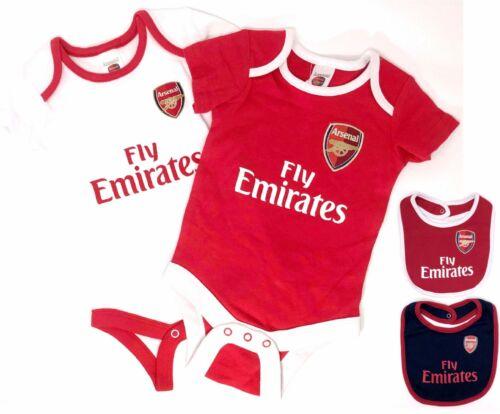 ARSENAL FC Officiel Bébés Corps Landau Tenue à manches courtes Baby Grow Vest x2 AFC