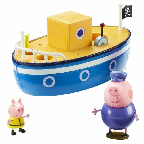 Figures Grandpa Pig/'s Bath Time Boat Play Set Playset Peppa Pig Bath Toy