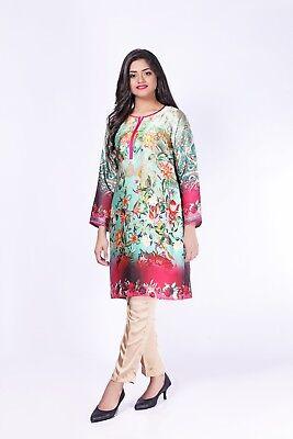 Caritatevole Pakistani Eid 2 Pezzi Stampa Digitale, Camicia In Seta Cucito & Pantaloni, Da 10 A 24- Vendita Calda Di Prodotti