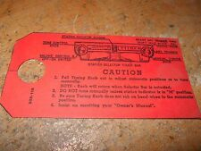 1946 1947 1948 FORD CAR AND TRUCK FACTORY RADIO INSTRUCTIONS TAG FOR DASH NICE!