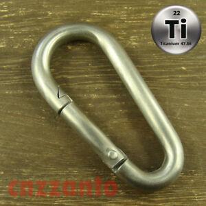 Titanium Plating Climbing Carabiner Key Ring Hook Camping Clip Keychain Holder
