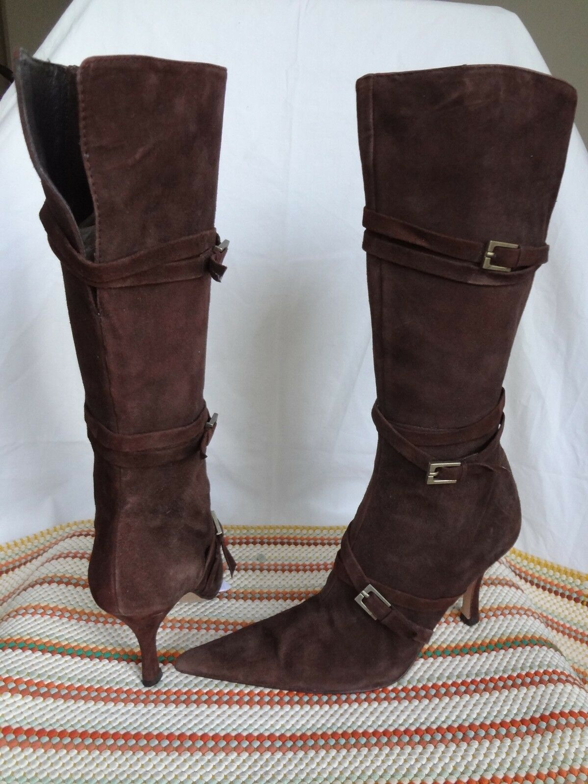ALDO Damenschuhe ANKLE SUEDE Stiefel BUCKLE BROWN  SIZE 37/ US 6.5-7  BROWN EUC 30cd17