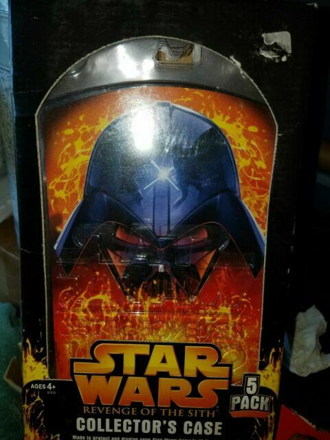 STAR WARS HASBRO FIGURE COLLECTOR/'S CASES REVENGE OF THE SITH MISB STAR CASES