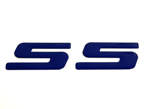 2 BLUE SS EMBLEM BADGE DECAL FOR CHEVROLET CHEVY CAMARO RS SS Z28