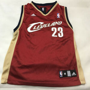 premium selection 384d4 c244d Details about Lebron James #23 Cleveland Cavaliers Adidas Jersey Youth size  Medium 10-12