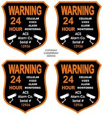 4 ACS Alarm Surveillance Security Camera Video CCTV Sticker GPS Decal Signs