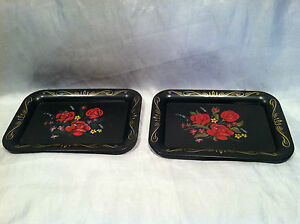 VTG-Compliments-of-Pepsi-Cola-Tin-Tip-Tray-Tole-Painting-Style-Rose-Decals-6-x-4