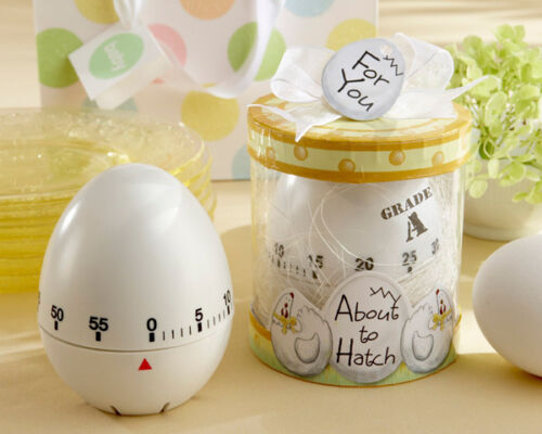 About to Hatch Kitchen Chicken Egg Timer Baby Shower Favor in Gift Box